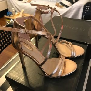 Forever 21 Shoes - Forever21 golden heels. New without tags!!!